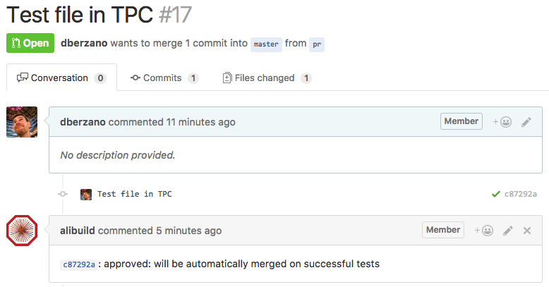 Git approved Pull Request