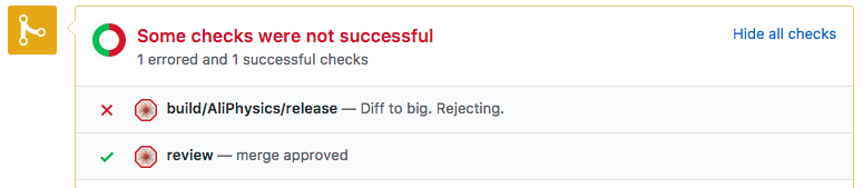 Pull request is too large